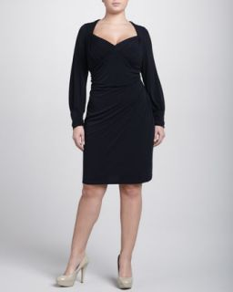David Meister Long Sleeve Cold Shoulder Dress