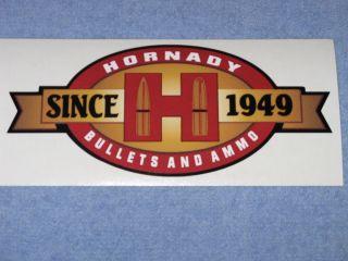 RARE Hornady Vintage Logo Bullets Ammo Since 1949 Vinyl Decal Sticker