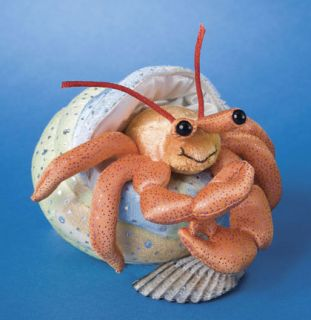 HENRY plush HERMIT CRAB 2 pcs comes out of shell  Douglas Cuddle