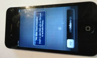 Apple iPhone 4 16GB Black at T Smartphone Otterbox Defender