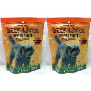 2 Pack Trader Joes Beef Liver Begging Treats for Dogs