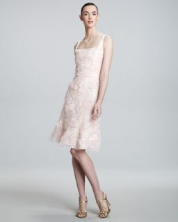Sue Wong Lace Floral Applique Dress
