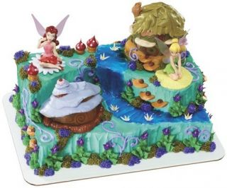 Disney Fairies Tinkerbell Birthday Kit Cake Topper Figurines Pixie