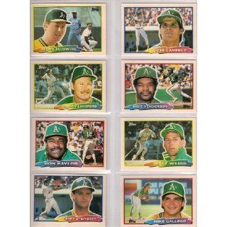 Oakland Athletics 1988 Topps (Big) Baseball Team Set (Mark