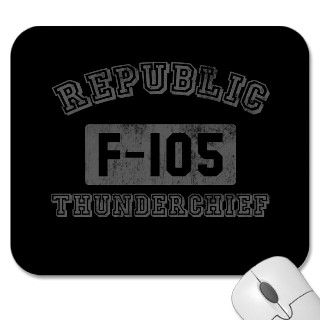 Republic F 105 Thunderchief Mousepads