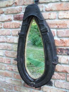 antique flemish brabant horse harness collar mirror clydesdales