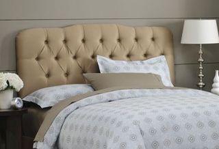 New Skyline Furniture Tufted Fabric Headboard Queen Khaki Tan
