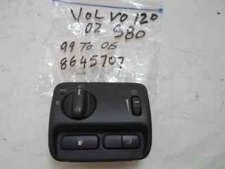 99 03 Volvo S80 Headlight Control Switch w Fog Lamp Control Fits Volvo