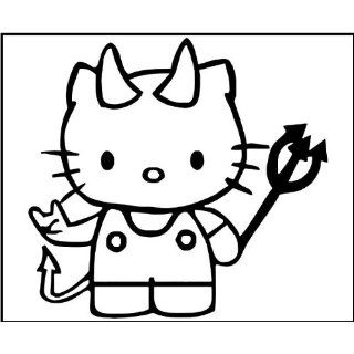 4 Inch Vinyl Decal   Hello Kitty Devil   Car Truck