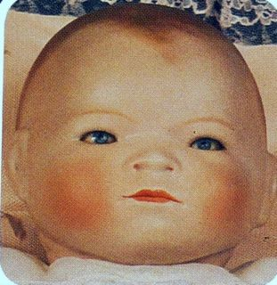 """Larger Bye Lo"" Porcelain Doll Head Mold Bell 2254"