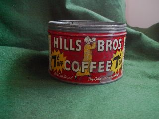 Vintage Hills Bros Coffee Can