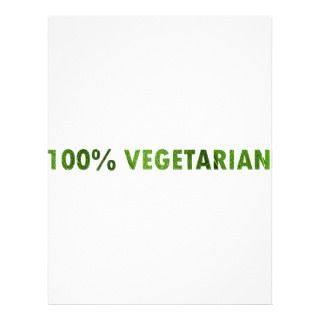 100 PERCENT VEGETARIAN PERSONALIZED FLYER