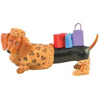 Hot Diggity Shopaholic Shopper Dachshund Dog Mini Figurine by Westland