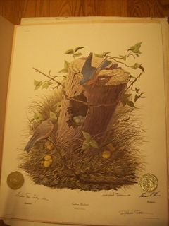 Print Governor Series Signed Eastern Bluebird Rockefeller Hearnes