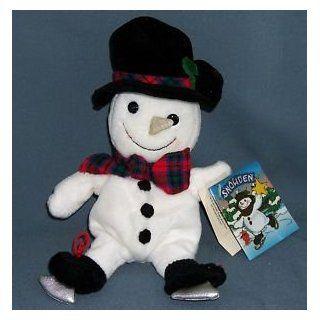 Snowman Ice Skate Snowden Mini Bean Bag 8 Plush Toys