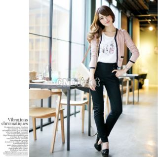 2012 New Hot Beautiful Fashion Korean Women Cotton Long Sleeve Jacket