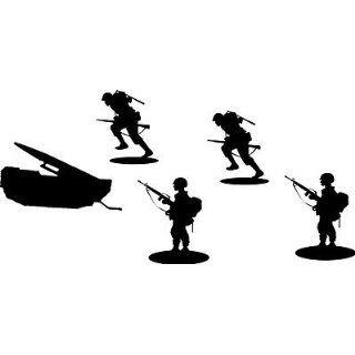 Mititary Scenery Wall Art Vinyl Decal Kit Missle Army Men