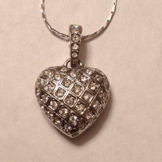 Heart Shape Swarovski Crystal Necklace