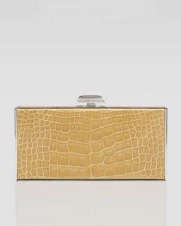 Judith Leiber East West Rectangle Clutch Bag, Camel