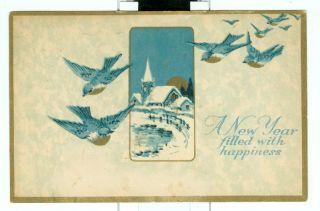 Missent to Hopkinton IA Iowa New Years Holiday Postcard Cover