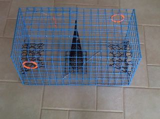 PVC Blue Commercial Grade Heavy Duty Crab Pot Trap