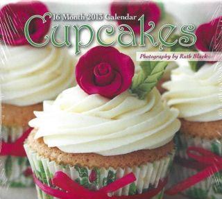 Studio 18 2013 Cupcakes 16 Month Cat Desk Calendar 5 25 x 5 75 New