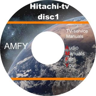 HITACHI TV service manuals trainings manuals and schematics on 3 dvd
