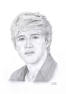 Niall Horan 1D One Direction Limited Edition Pencil Art Drawing Print