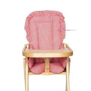 Chair Kids Line Hi Pad Red Gingham Highchair New