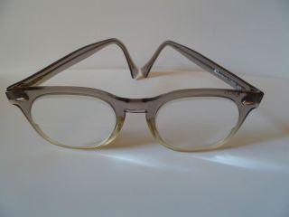 American Optical Horn Rimmed Glasses Gray Fades Plastic Frames AO 48