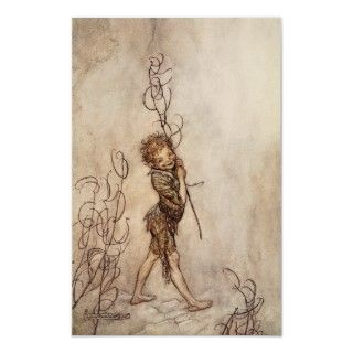 Vintage Arthur Rackham illustration A Midsummer Nights Dream
