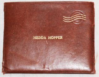 Hedda Hopper Personally Owned Leather Stamp Wallet Custom Made