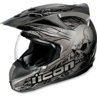 Icon Variant Dual Sport Motorcycle Helmet Etched Black XL