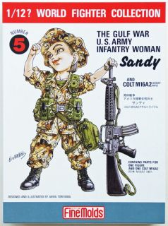 Fine Molds FT5 U.S. Infantry Woman Soldier Sandy 1/12 scale kit