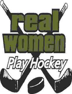 Hockey Shirts Real Women Play Hockey T Shirt Hoodie Tank Top Long