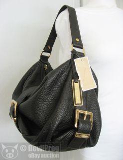 Michael Kors Heidi Brown Large Leather Shoulder Bag