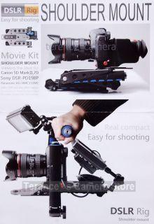 DSLR Rig Shoulder Mount for Canon 5D Mark II 7D 60D T3i