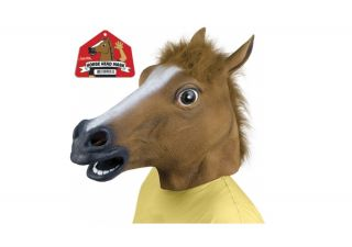 Horse Head Full Overhead Latex Adult Mask One Size Fits Most 12027