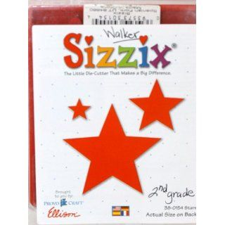 Sizzix Original #38 0154 Stars Die Ellison Arts, Crafts