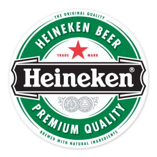 Heineken Beer Sign car bumper sticker decal 4 x 4