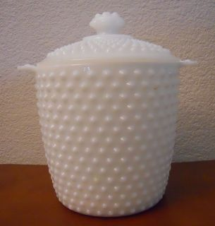 Hocking Milk Glass Cookie Jar