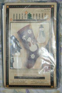 Hodge Podge Christmas Felt Stocking Snowman 9 x 17 Factory SEALED