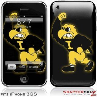 iPhone 3GS Skin   Iowa Hawkeyes Herky on Black Skin and