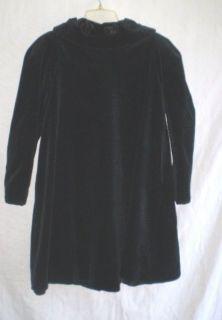 Girls Helena  Black Holiday Christmas Swing Dress Coat
