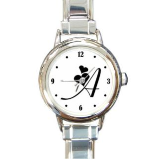 Personalize Initial Name Hot Ladies Italian Charm Watch