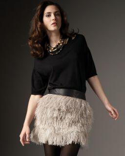 Robert Rodriguez Feather Skirt   Neiman Marcus