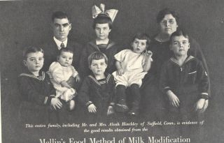 Ad Mellins Food Family of Mr Mrs Alvah Hinckley Suffield Ct