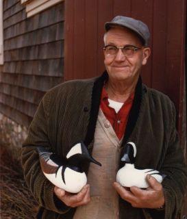 Holger G. Smith Massachusetts Folk Art Hand Carved Canada Goose Decoy