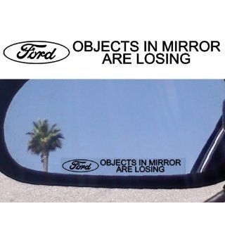 Mirror Decals  OBJECTS IN MIRROR ARE LOSING for FORD GT 500 40