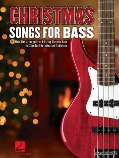 Christmas Songs for 4 String Bass Guitar Tab Sheet Music Hal Leonard